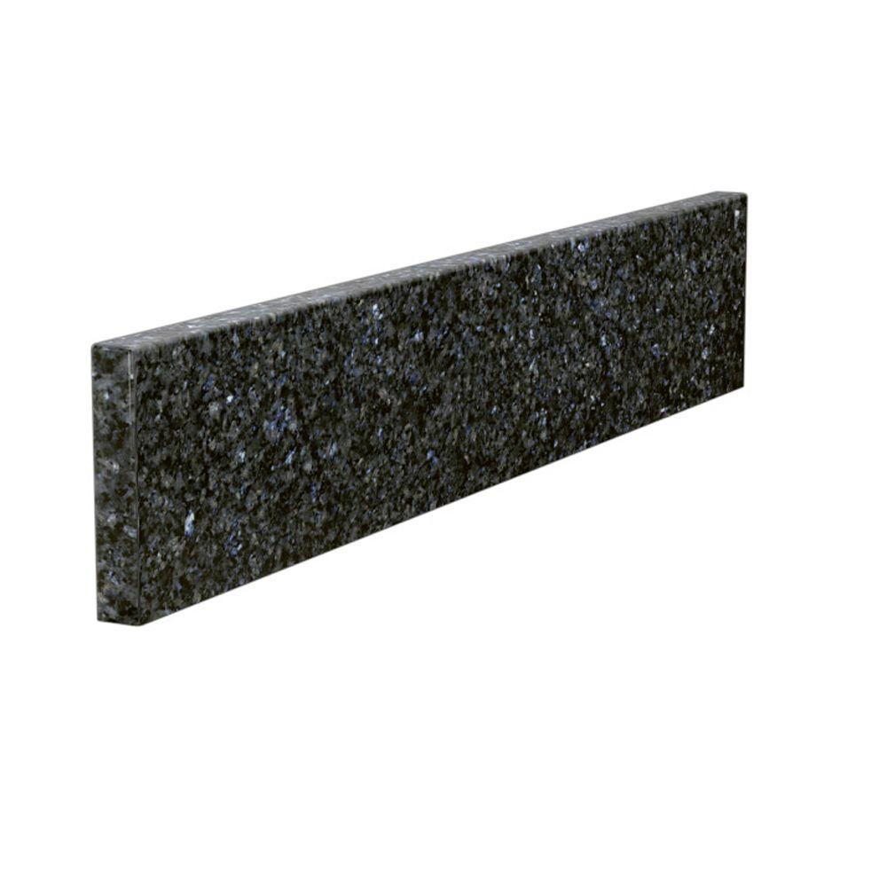 Solieque 22 in. Granite Sidesplash in Blue Pearl