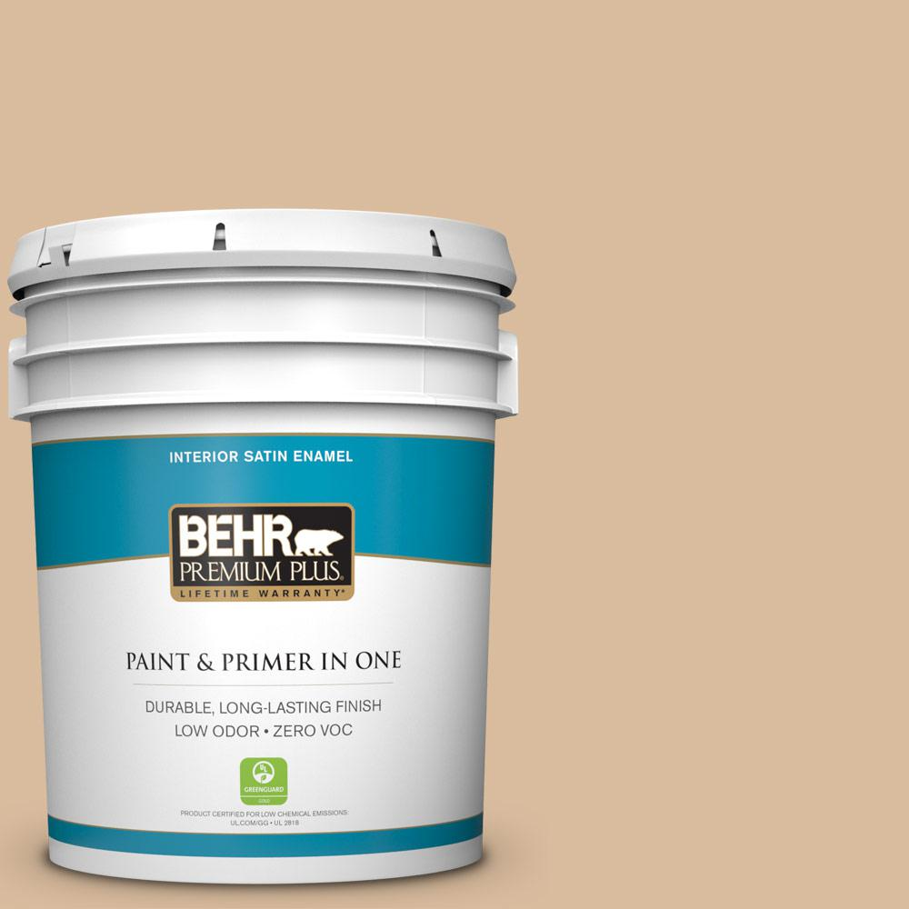 5-gal. #BXC-40 Soft Wheat Satin Enamel Interior Paint