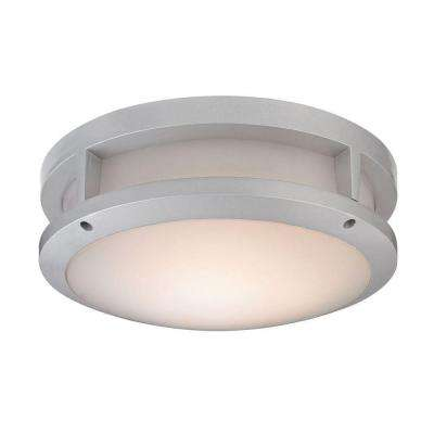 Colby 1-Light Matte Silver Outdoor Flush Mount