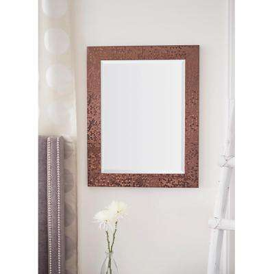 29.25 in. x 23.25 in. Bronze Mosaic Beveled Pattern Wall Mirror