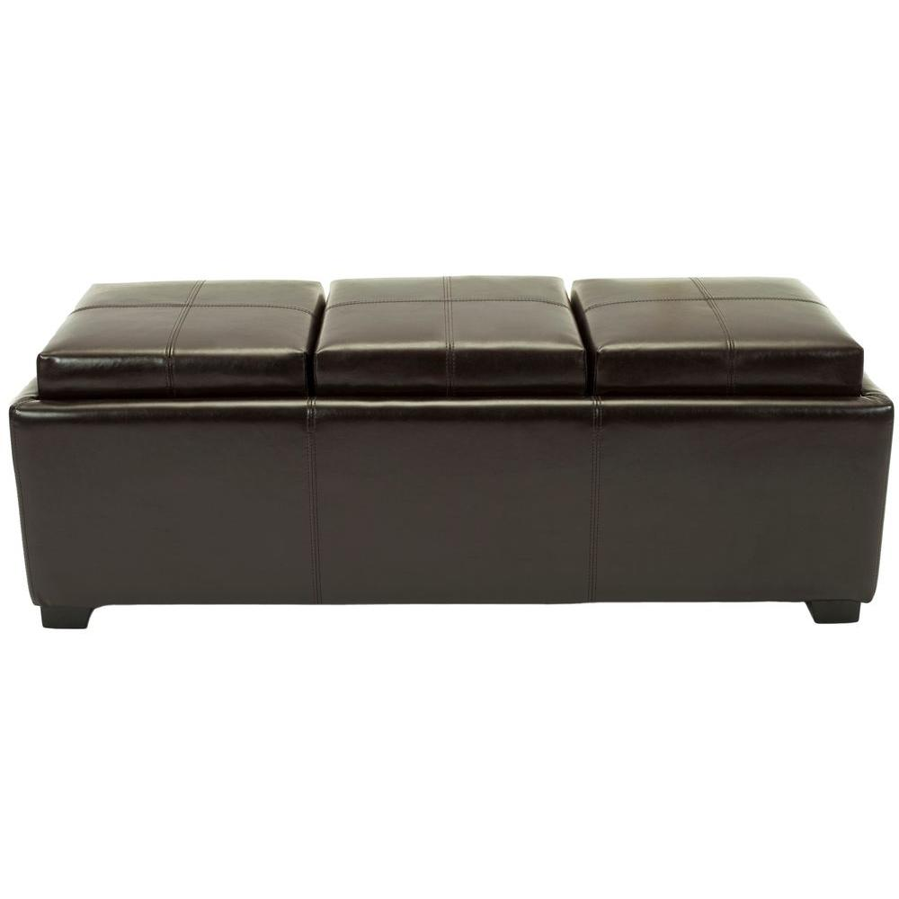 Safavieh Harrison Brown Ottoman