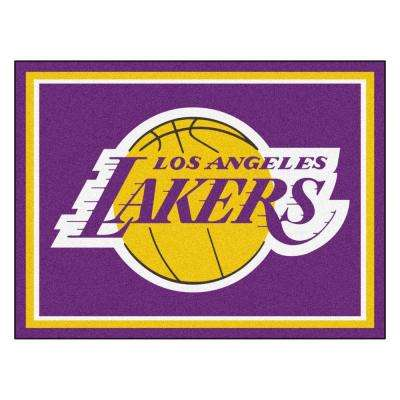 NBA Los Angeles Lakers Purple 8 ft. x 10 ft. Indoor Area Rug