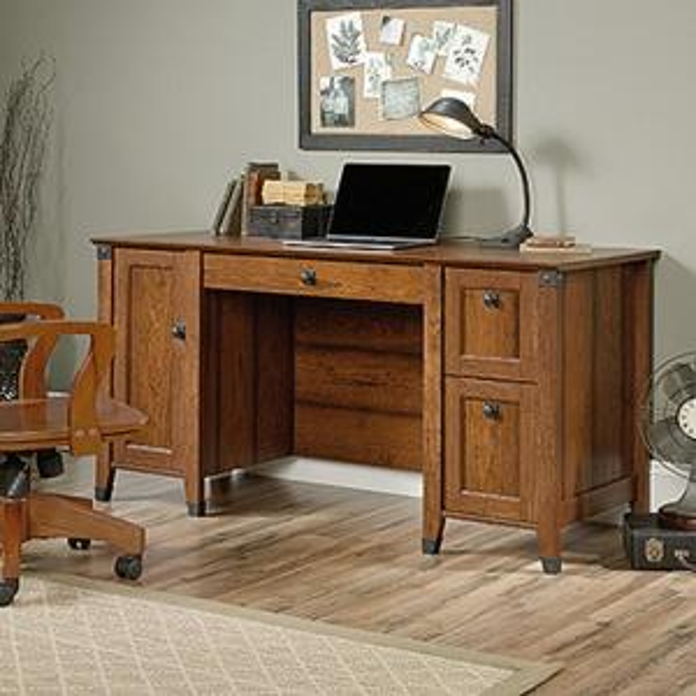 Sauder Carson Washington Cherry Desk 412920 The Home Depot