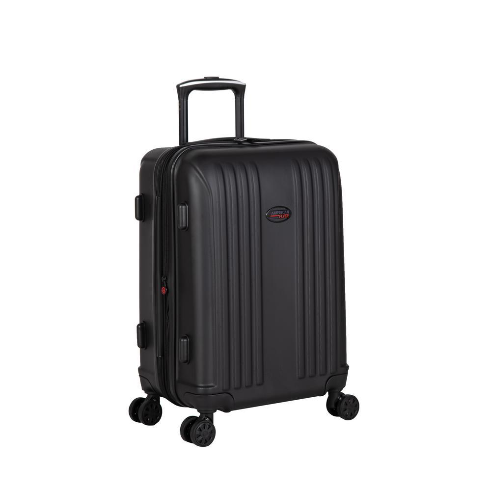 Moraga 22 in. Black 8-Wheel Hard Side Spinner Luggage