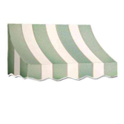 10 ft. Nantucket Window/Entry Awning (56 in. H x 48 in. D) in Sage/Linen/Cream Stripe