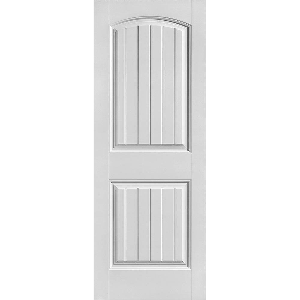 30 in. x 80 in. Solidoor Cheyenne Smooth 2-Panel Camber Top Plank Solid Core Primed Composite Interior Door Slab