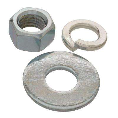3/8 in. Zinc-Plated Nuts, Washers and Lock Washer (6-Piece per Pack)
