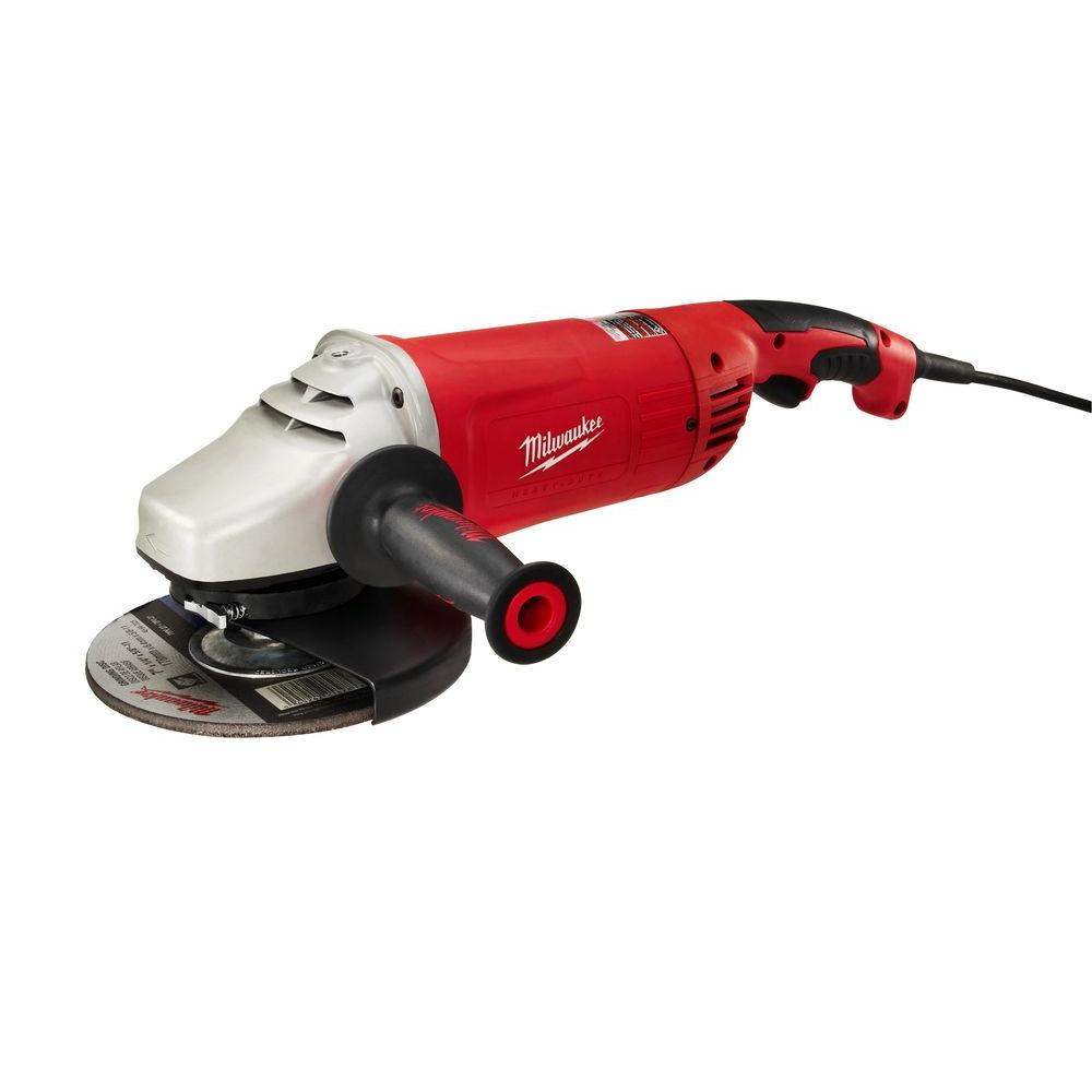 Milwaukee 15-Amp 7/9 in. Non-Lock-On Large Angle Grinder