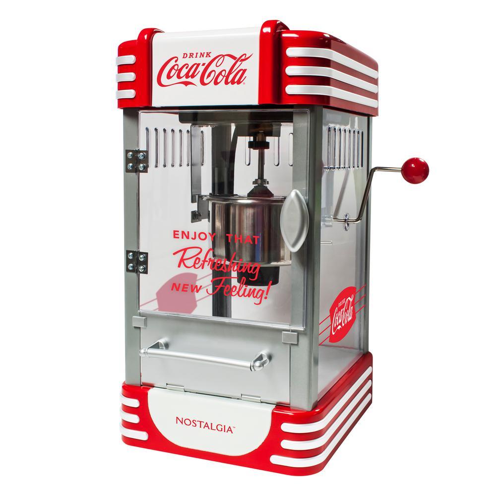 Coca-Cola 2.5 oz. Red Kettle Countertop Popcorn Machine