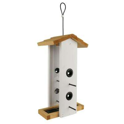 Vertical Cedar Wild Bird Feeder