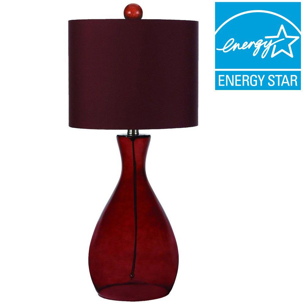 Mercer 26 in. Royal Red Hand-Blown Glass Table Lamp