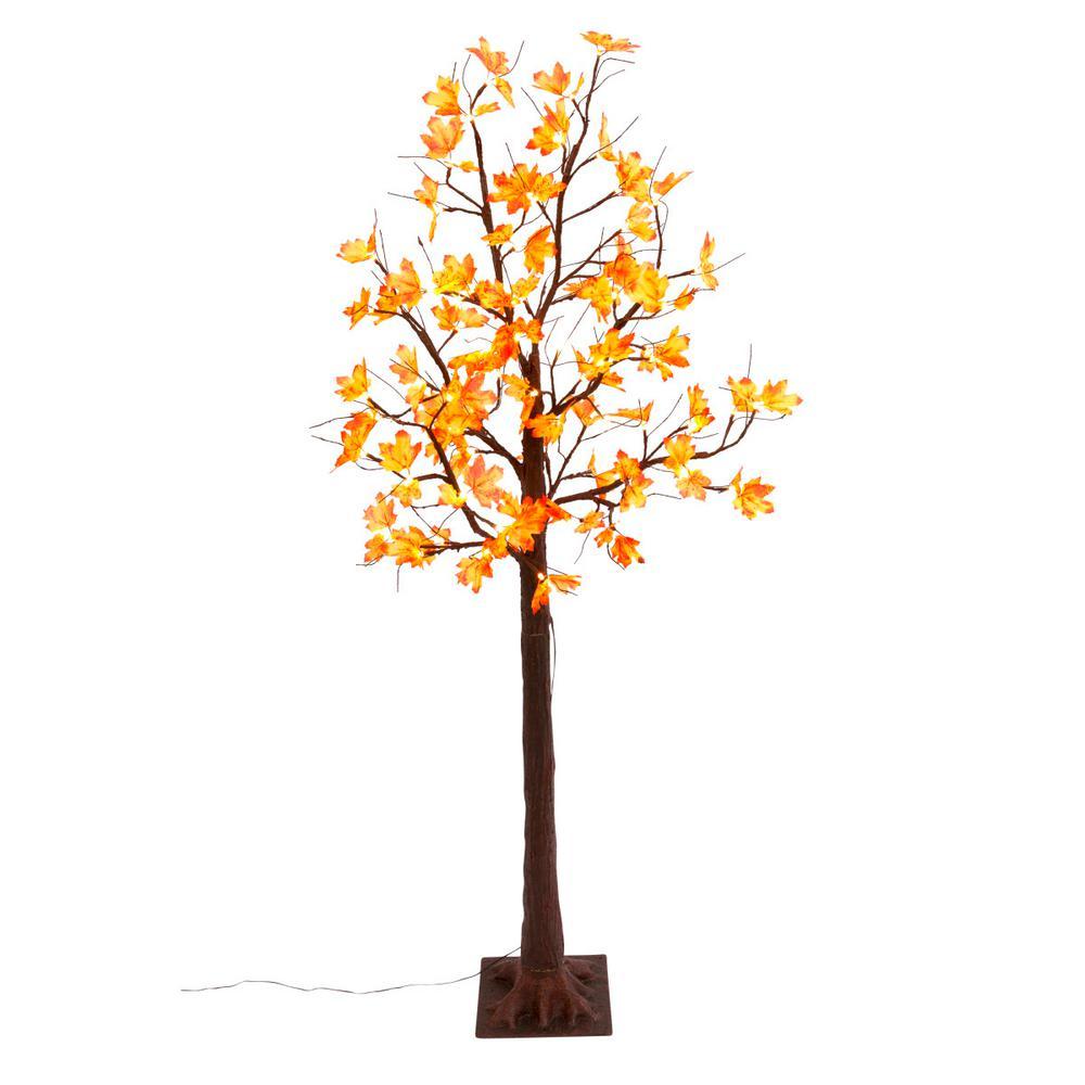 6 ft. H LED Lighted Maple Leaf Tree