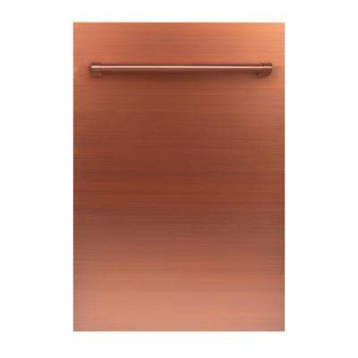 18 in. Top Control Dishwasher in Copper with Stainless Steel Tub and Traditional Style Handle