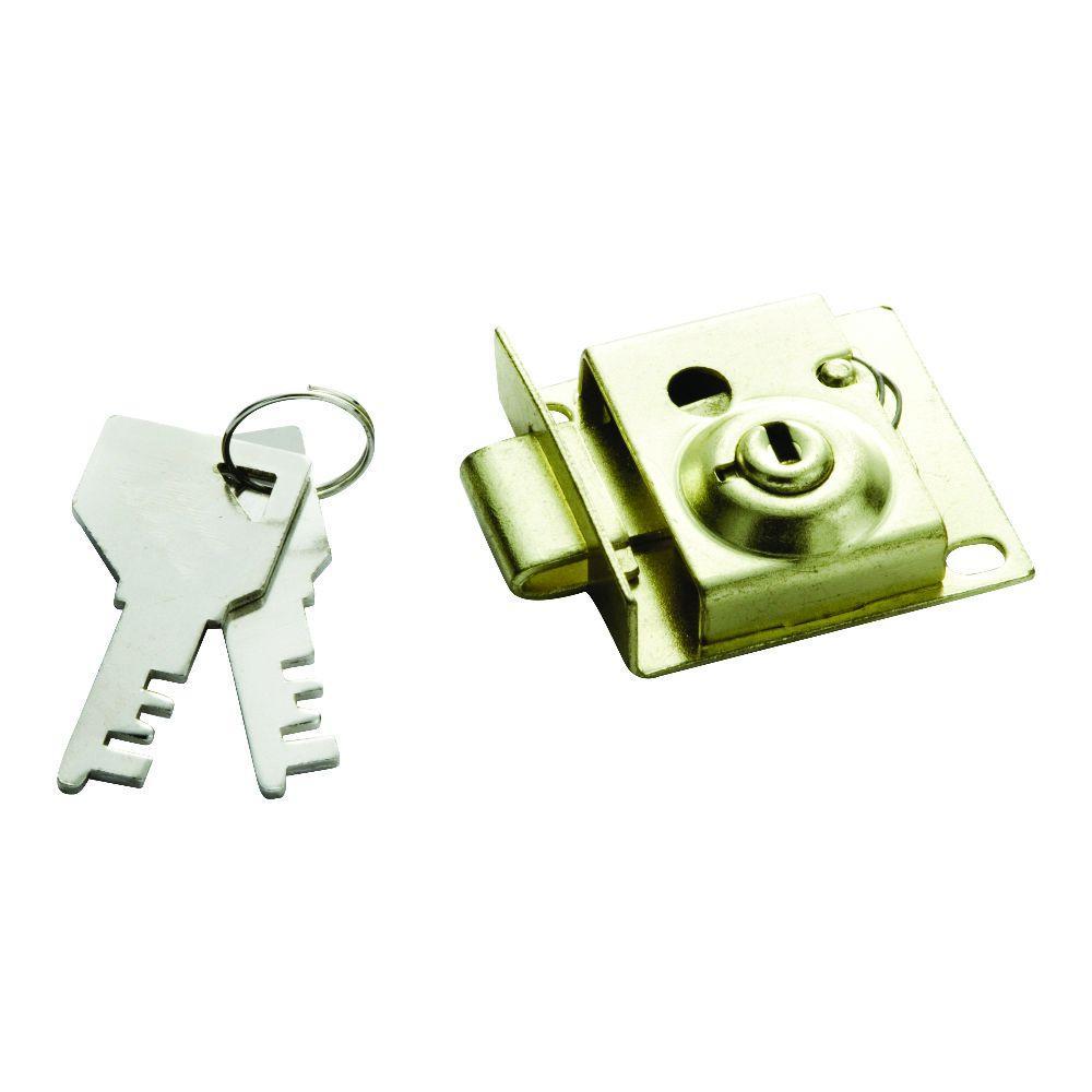 5/16 in. Polished Brass Bolt Mailbox Lock