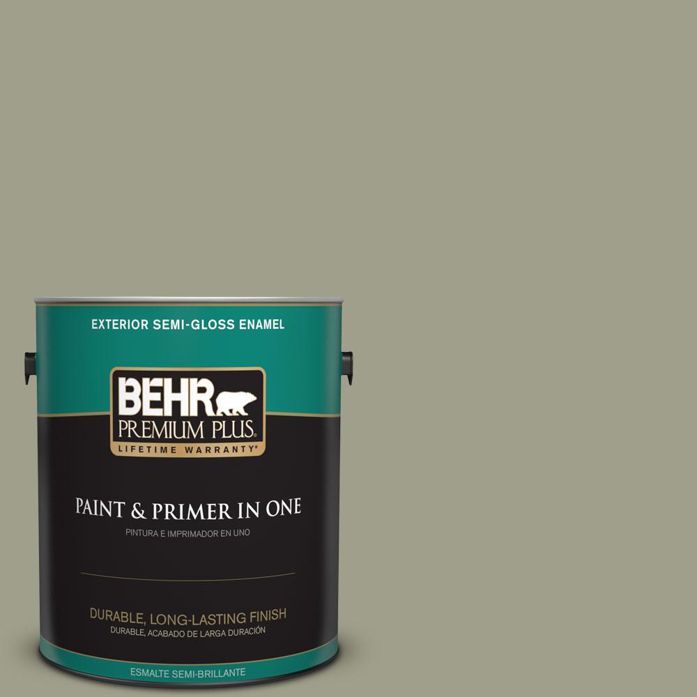1-gal. #BXC-82 Potting Moss Semi-Gloss Enamel Exterior Paint