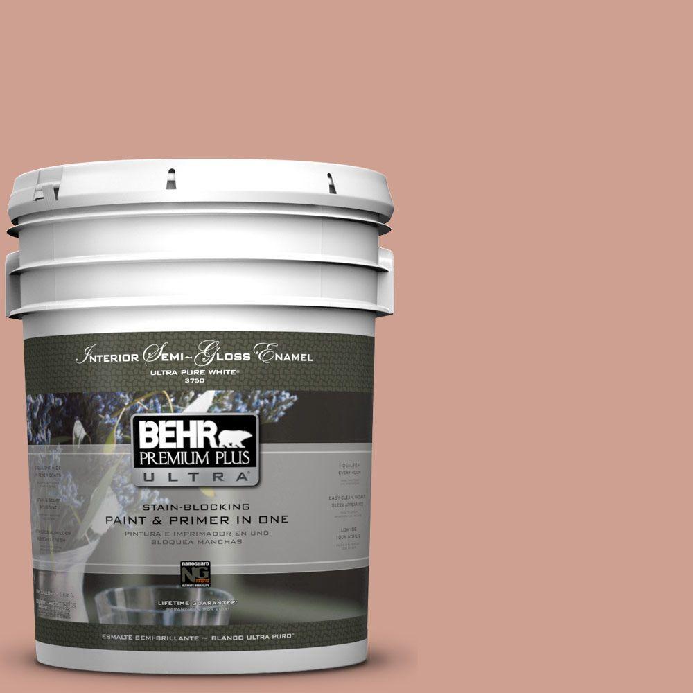 BEHR Premium Plus Ultra 5-gal. #S180-4 Shiny Kettle Semi-Gloss Enamel Interior Paint