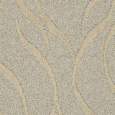 Carpet Sample - Framed Artwork - Color Bashful Beige Pattern 8 in. x 8 in.
