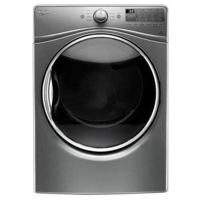 7.4 cu. ft. 240 -Volt Stackable Chrome Shadow Electric Vented Dryer with Advanced Moisture Sensing, ENERGY STAR