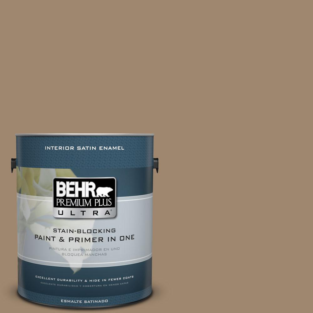 BEHR Premium Plus Ultra 1-gal. #700D-5 Toffee Crunch Satin Enamel Interior Paint