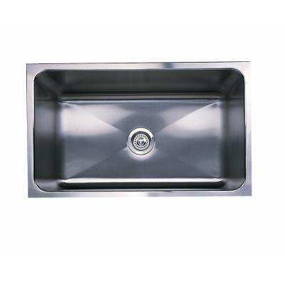 Magnum Undermount Stainless Steel 30 in. 0-Hole Large Single Bowl Kitchen Sink with Apron