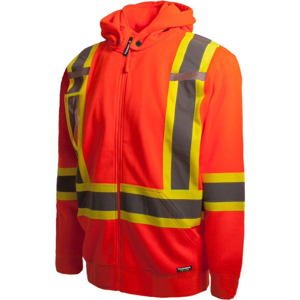 Terra High-Visibility Detachable Hood Reflective Safety Hoodie