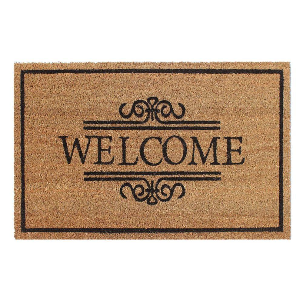 Welcome 18 In. X 30 In. Coir Door Mat-2101014-1