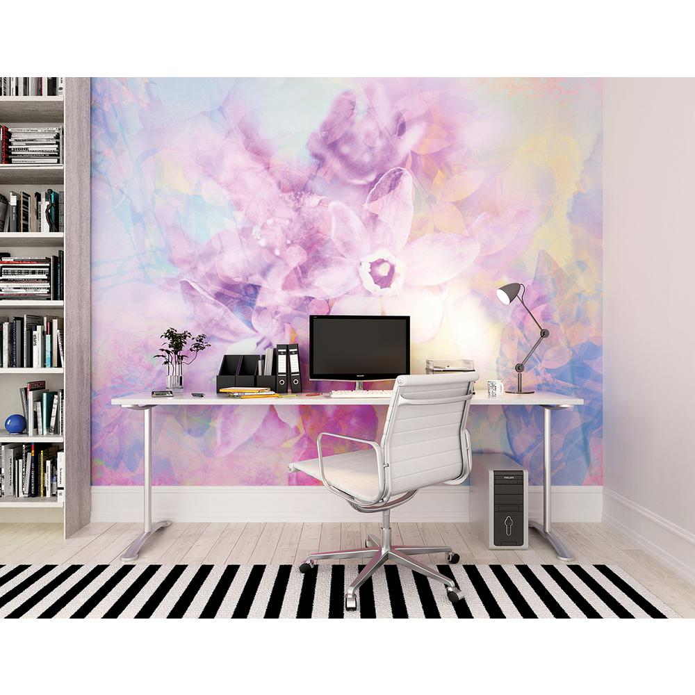 Brewster 118 in x 98 in petals wall mural wals0122 the for Brewster wall mural