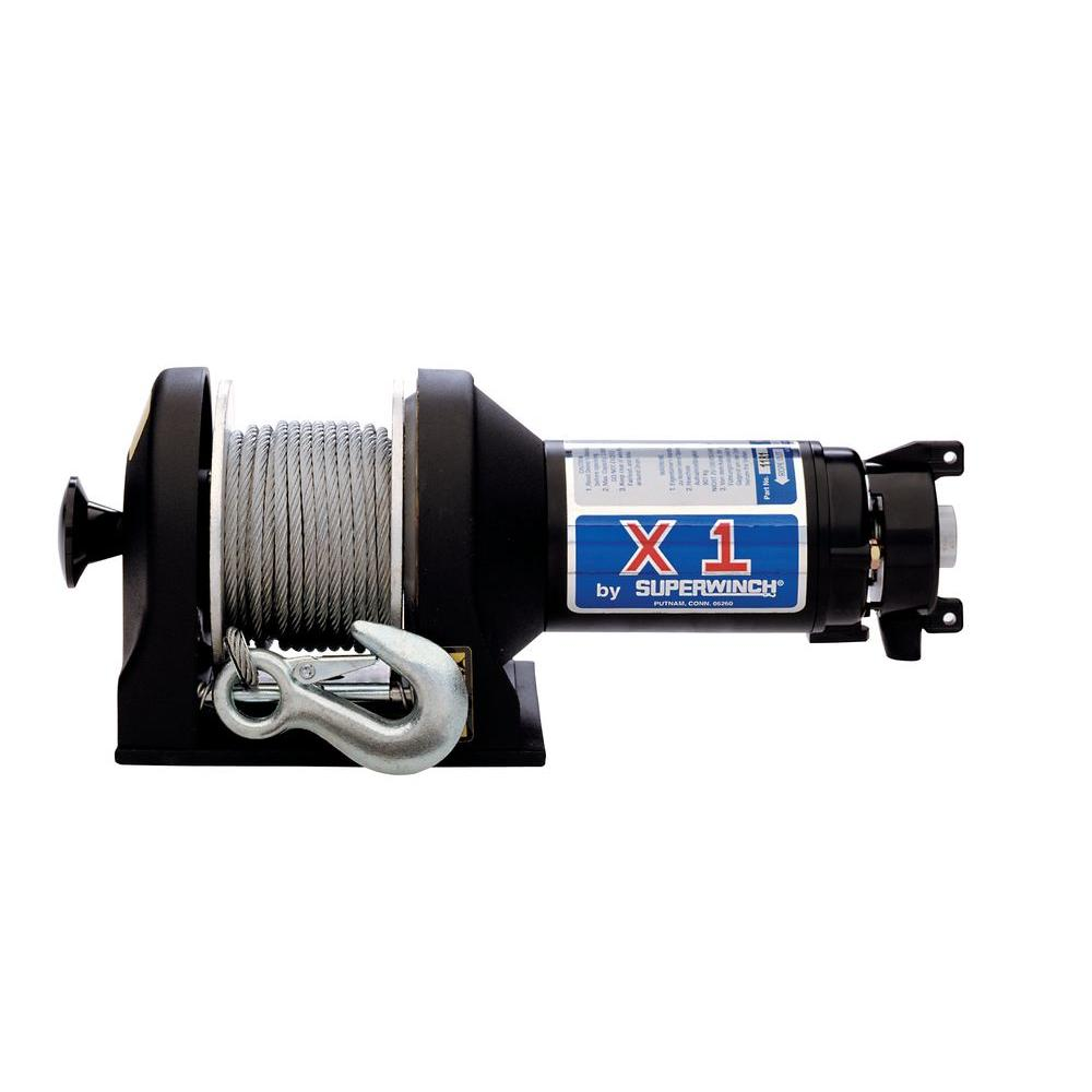 Superwinch X1F Series 12-Volt DC Utility Winch with Wire Rope ...