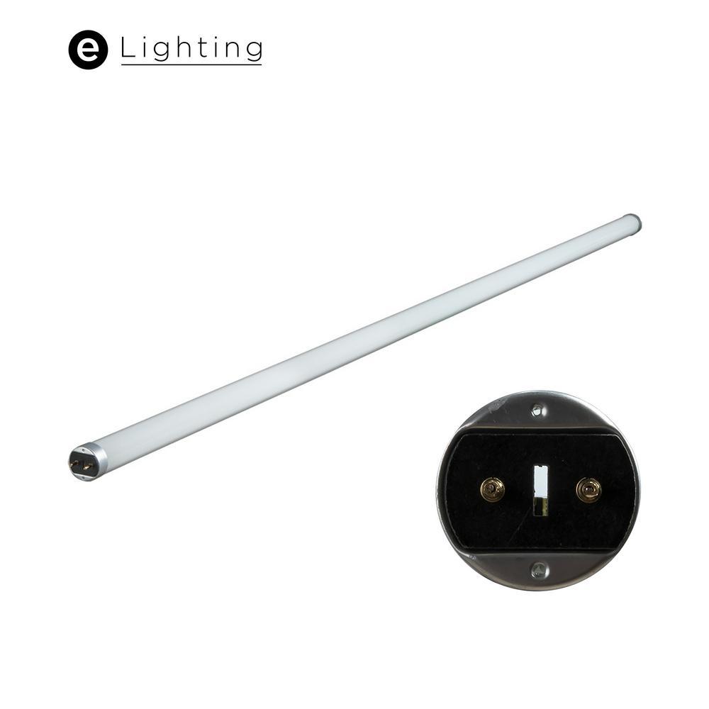4 ft. 17-Watt T8 Ballast Bypass Single End Power Linear LED Tube Light Bulb Cool White 4000K (20-Pack)