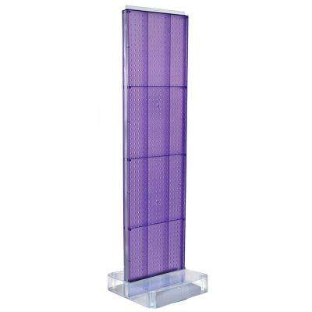 60 in. H x 16 in. W 2-Sided Pegboard Floor Display on Studio Base in Purple