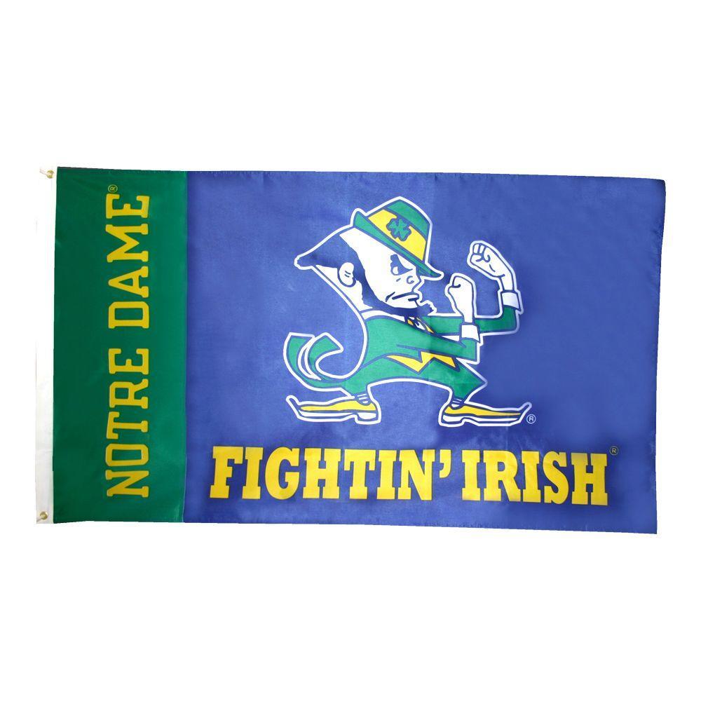 3 ft. x 5 ft. Polyester University of Notre Dame Flag
