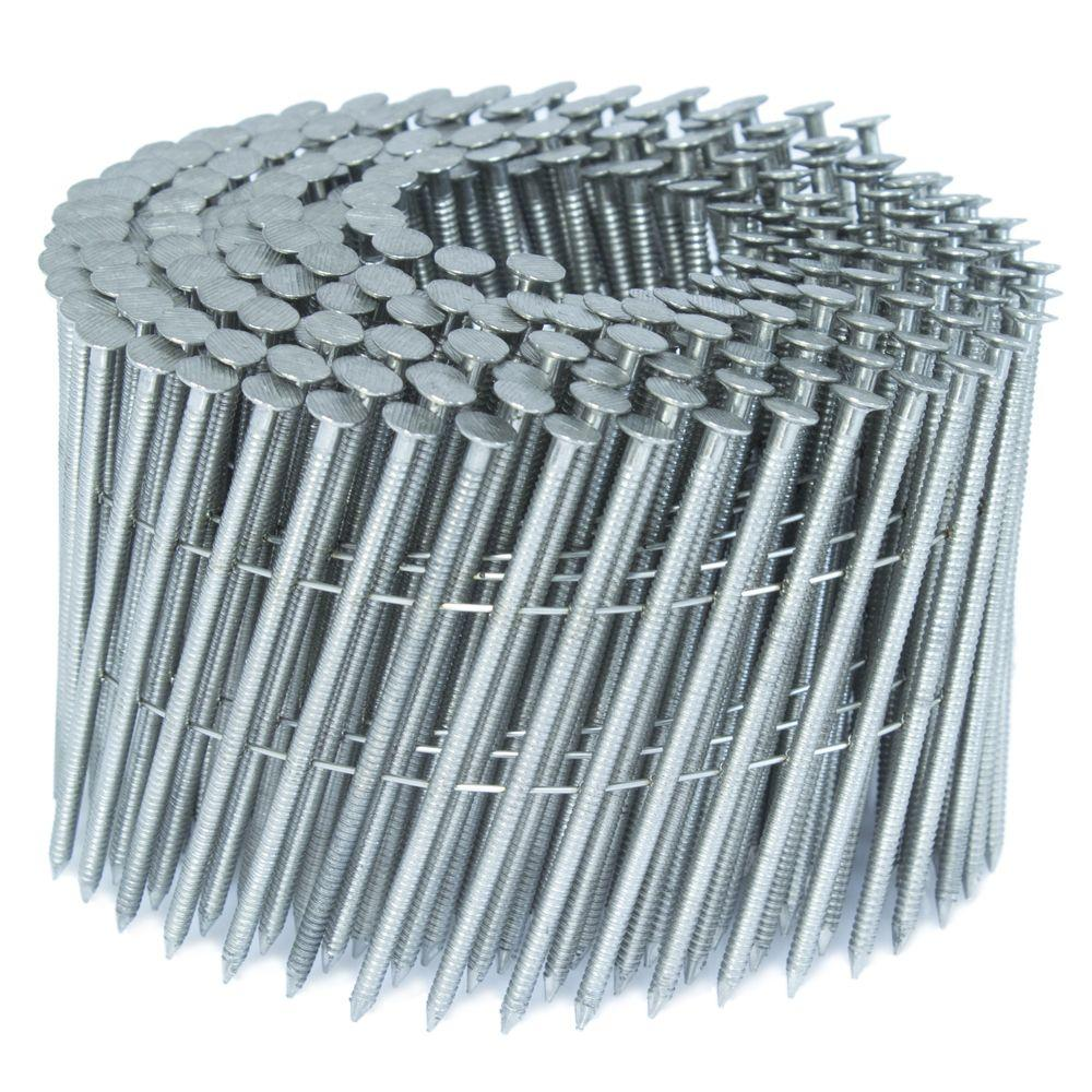 FASCO 2.5 in. x 0.09 in. 15-Degree Ring Stainless Wire Coil Siding ...