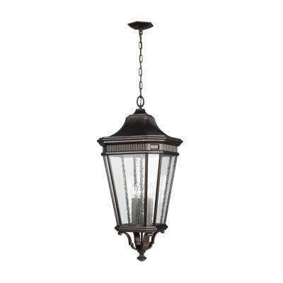 Cotswold Lane Grecian Bronze 4-Light Hanging Lantern