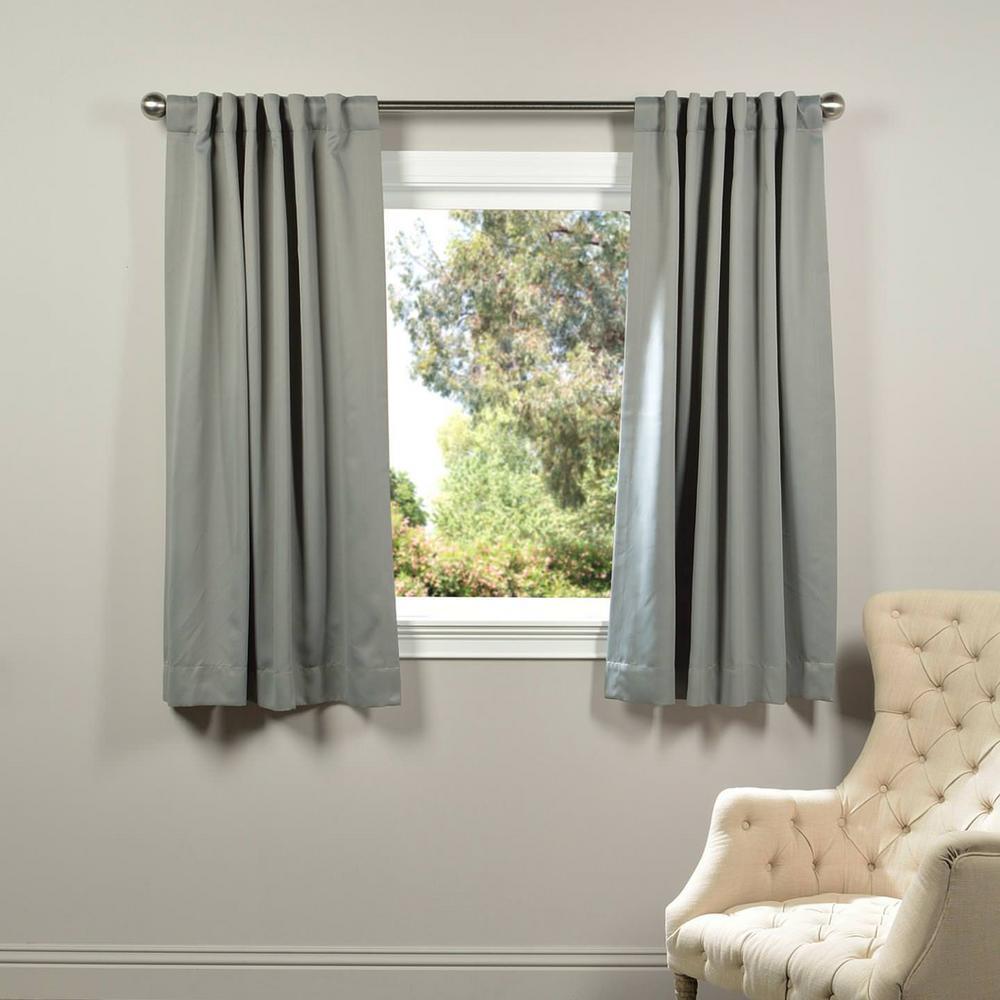Exclusive Fabrics Furnishings Semi Opaque Neutral Grey Blackout Curtain