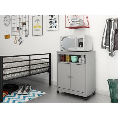 Shelton Gray Microwave Cart with Storage