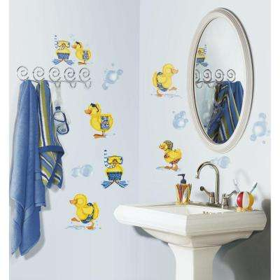 5 in. x 11.5 in. Bubble Bath Peel and Stick Wall Decal