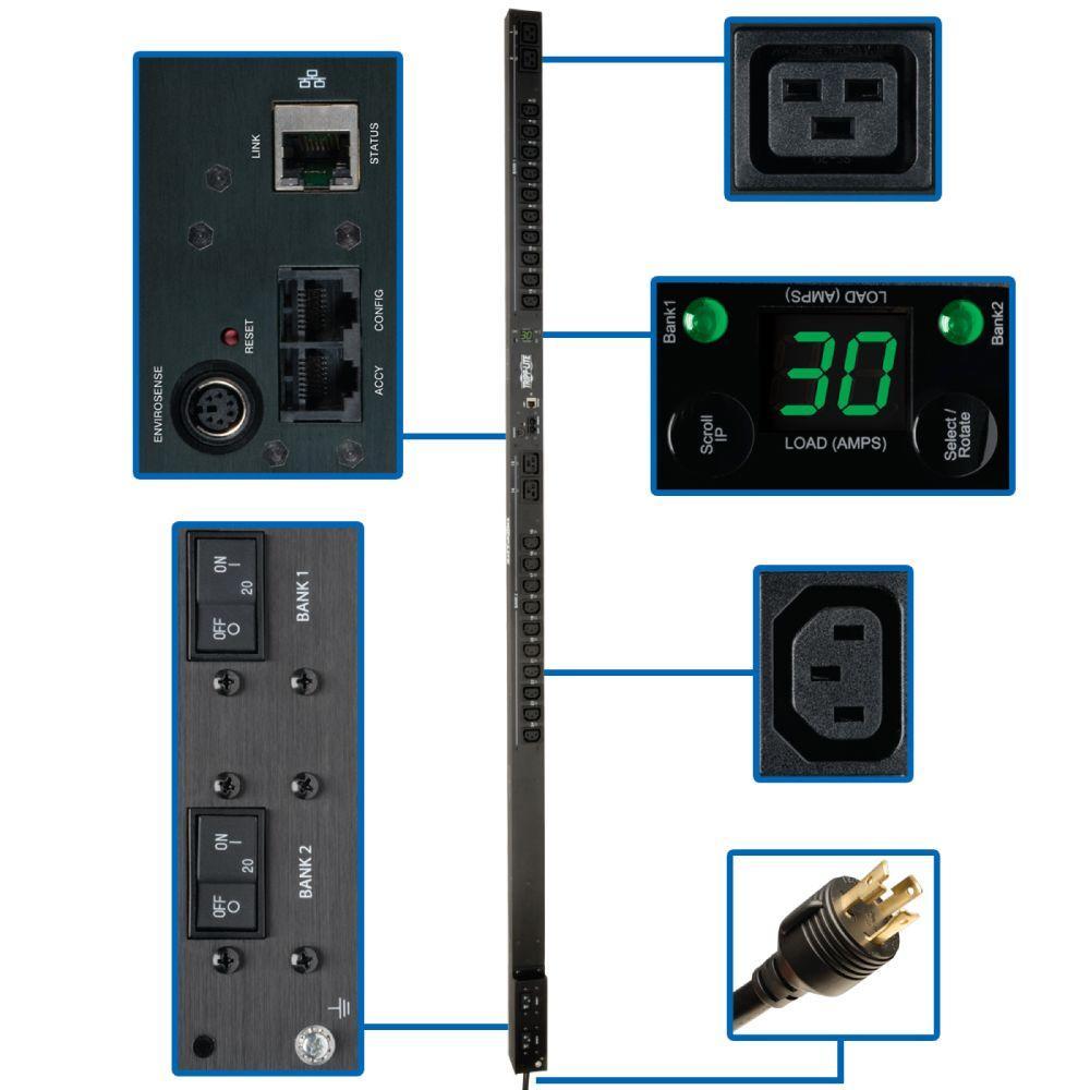 PDU Switched 208-Volt / 240-Volt 30-Amp 20 C13; 4 C19 Outlet L6-30P 0URM