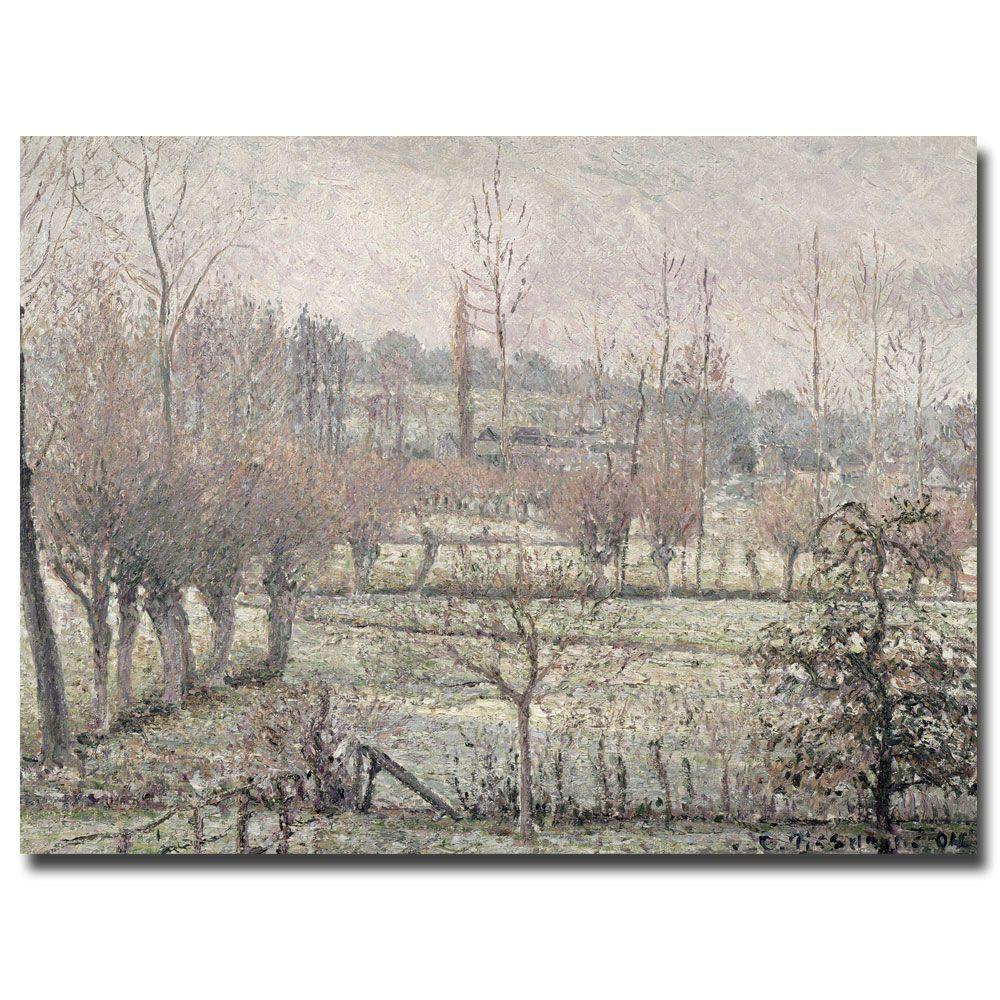 Trademark Fine Art 26 in. x 32 in. Snow Effect at Eragny, 1894 Canvas Art