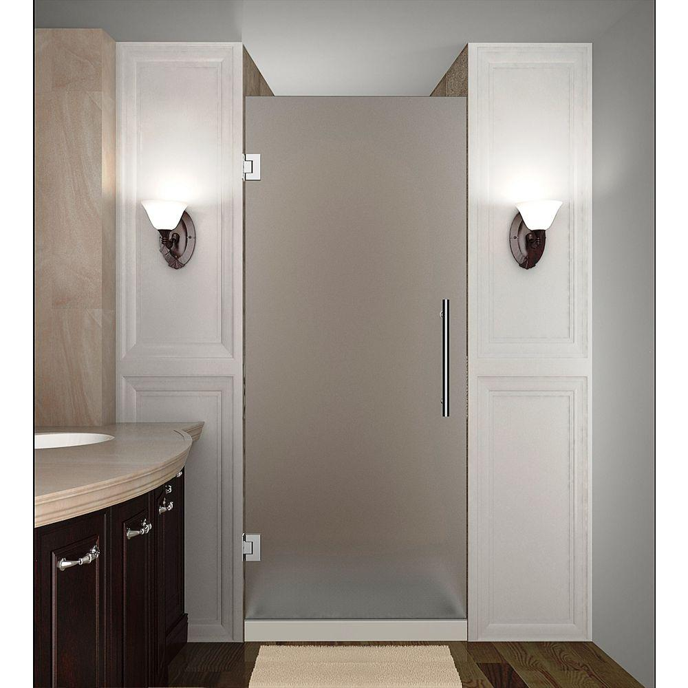 Cascadia 25 in. x 72 in. Completely Frameless Hinged Shower Door