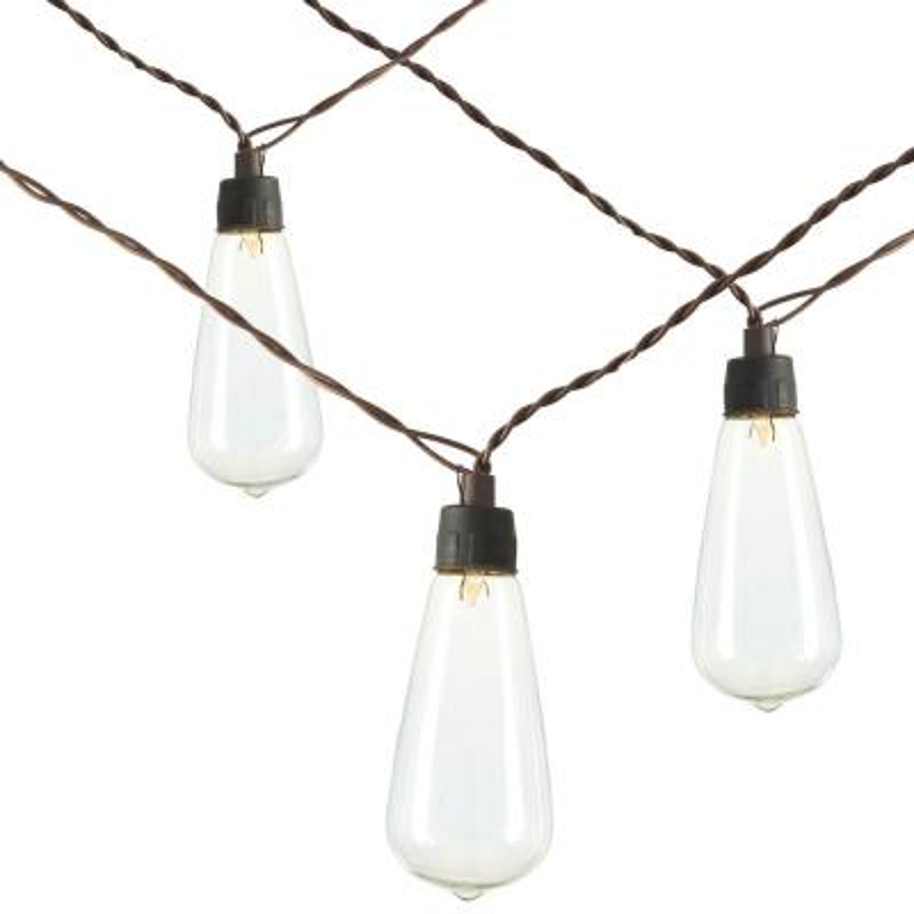 18.6 ft. L Solar Patio Light Strings with 20 ST38 Bulbs (40-Bulbs Total) (Set of 2 )