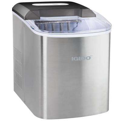 26 lb. Portable Ice Maker, Stainless Steel