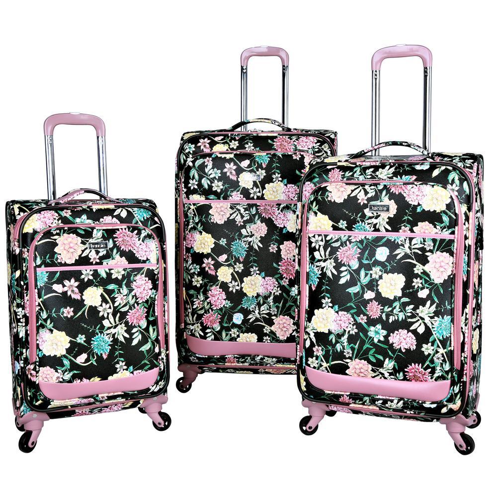 3-Piece Expandable Fashion Softside Vertical Rolling Luggage Set