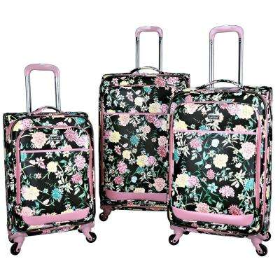 3-Piece Expandable Fashion Softside Vertical Rolling Luggage Set