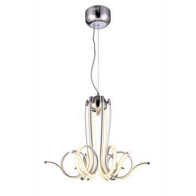 Alondra 90-Watt Chrome Integrated LED Pendant