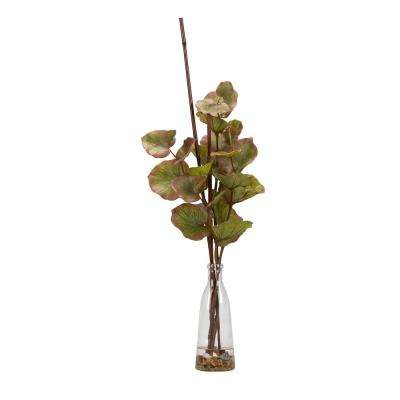 Indoor Fall Grape Leaf Branches in Glass Bottle
