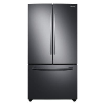 28.2 cu. ft. French Door Refrigerator in Black Stainless Steel with Autofill Water Pitcher