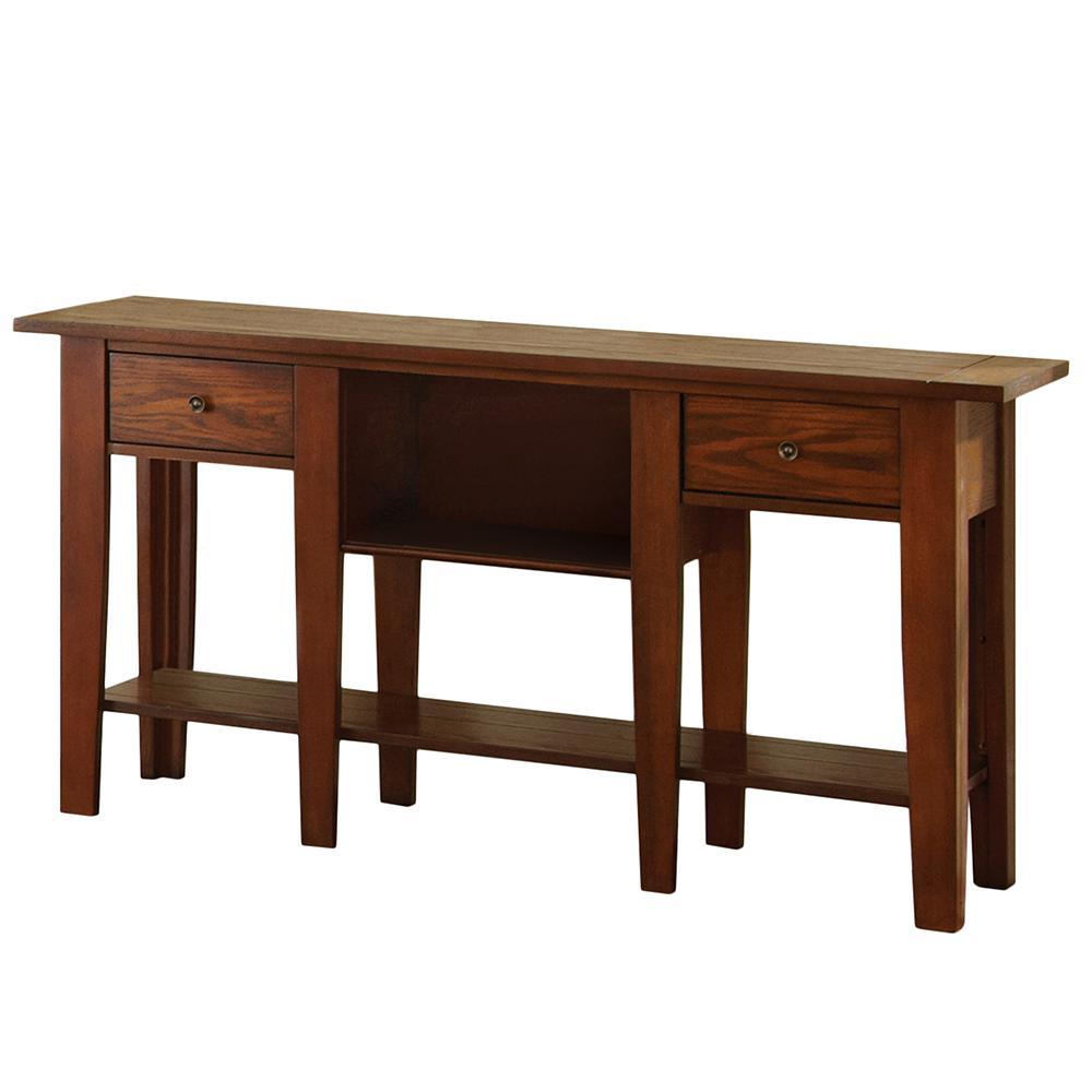 Desoto Red Oak Sofa Table
