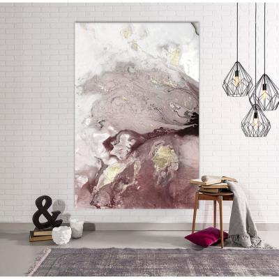 "48 in. x 72 in. ""Ocean Splash I Burgundy Version"" by PI Studio Wall Art"