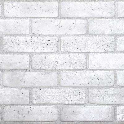 3D Retro 16/1000 in. x 38 in. x 19 in. Old Grey PVC Wall Panel