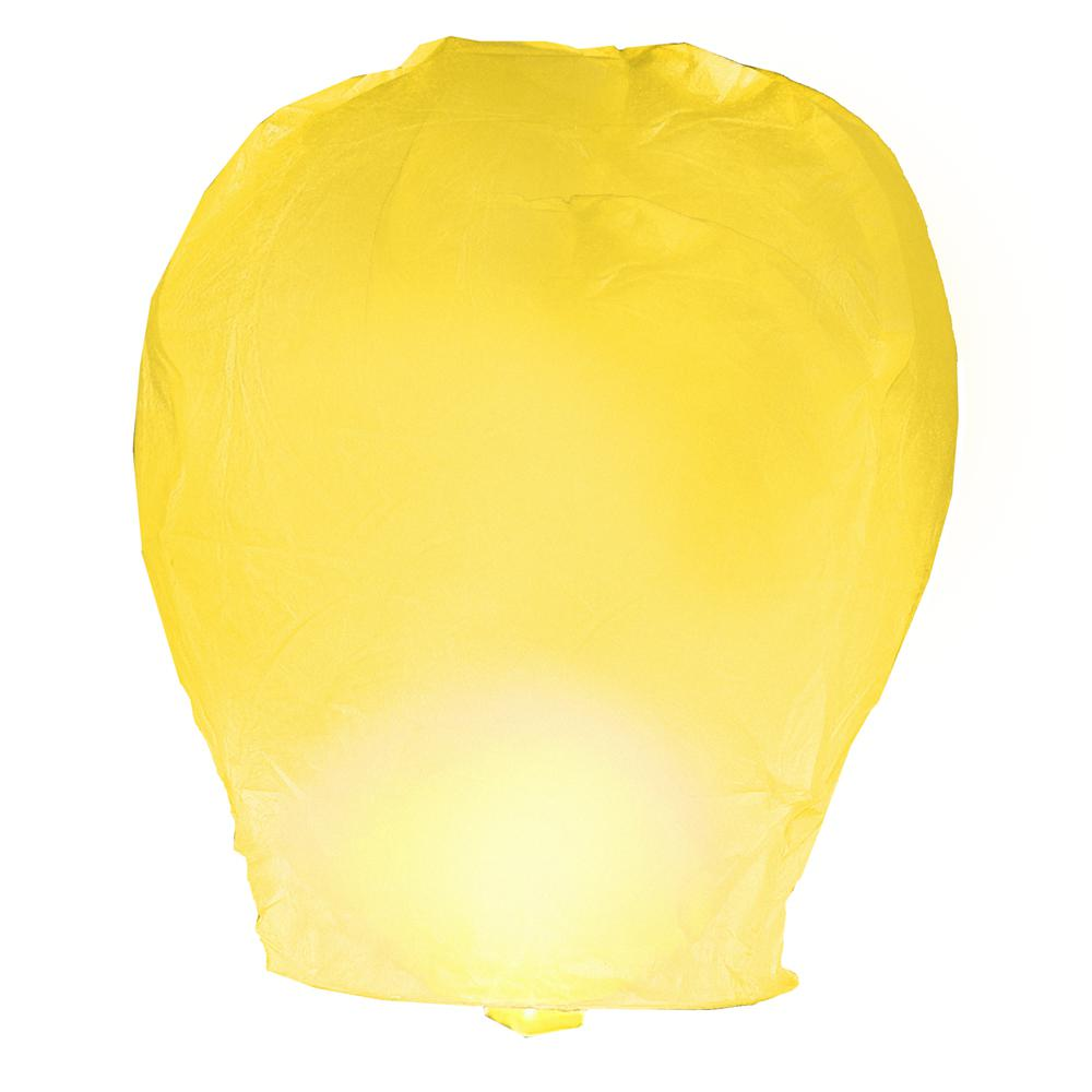 Yellow Sky Lanterns (Set of 4)